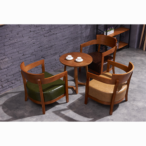 Dinette Wooden Frame Cushion Armchair Image 13