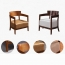 Dinette Wooden Frame Cushion Armchair Image 16
