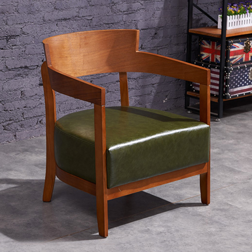 Dinette Wooden Frame Cushion Armchair Image 1