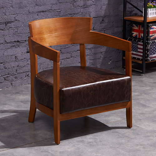 Dinette Wooden Frame Cushion Armchair Image 3