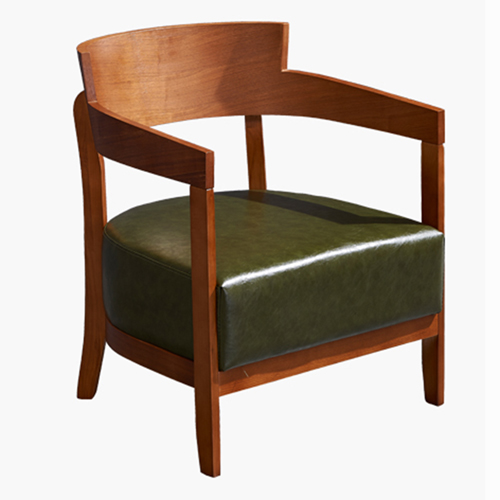 Dinette Wooden Frame Cushion Armchair Image 7