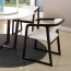 Comvex Leather Seat Wooden Dining Chair Image 10