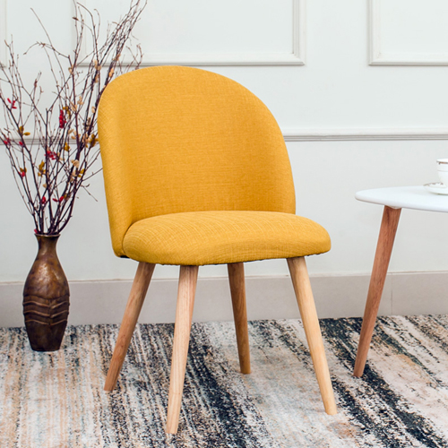 Mid-Century Sloping Back Fabric Chair Image 10