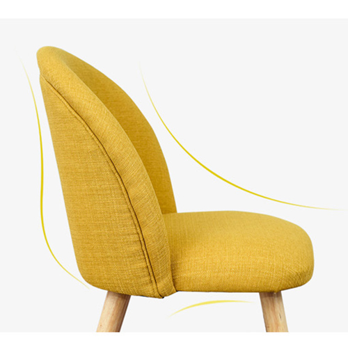 Mid-Century Sloping Back Fabric Chair Image 15