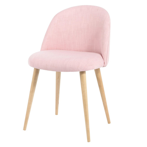 Mid-Century Sloping Back Fabric Chair Image 1