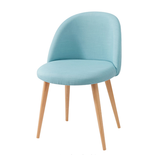 Mid-Century Sloping Back Fabric Chair