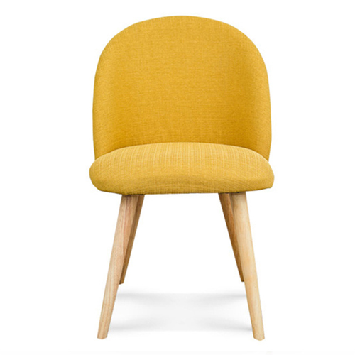 Mid-Century Sloping Back Fabric Chair Image 4