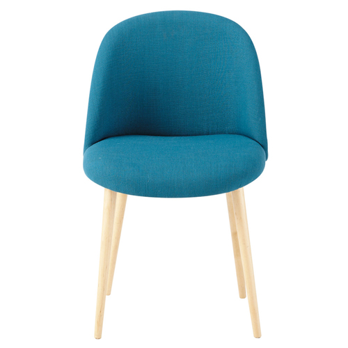 Mid-Century Sloping Back Fabric Chair Image 6