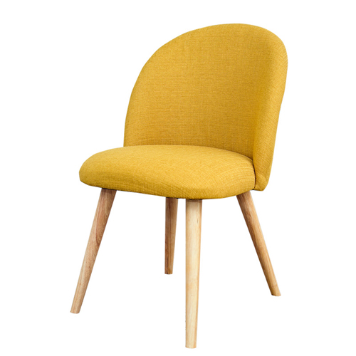 Mid-Century Sloping Back Fabric Chair Image 7
