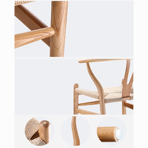Wishbone Natural Wood Chair Image 14