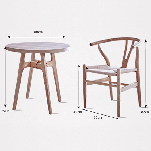 Wishbone Natural Wood Chair Image 16