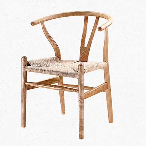 Wishbone Natural Wood Chair Image 1