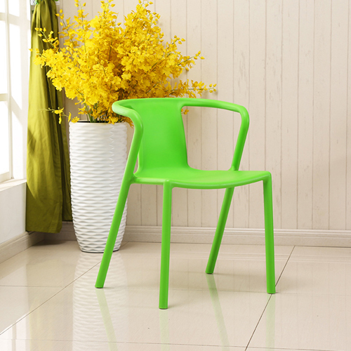 Sleek Stackable Plastic Chair Image 9