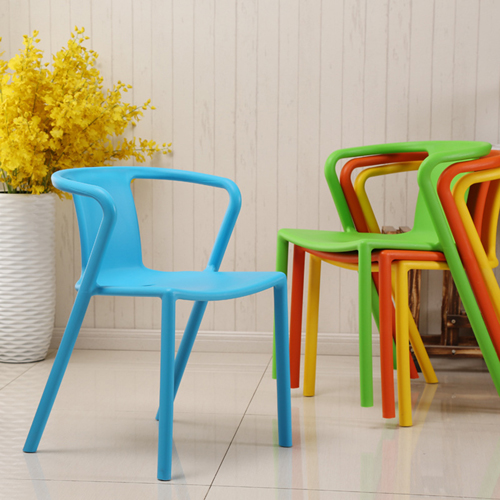 Sleek Stackable Plastic Chair Image 2