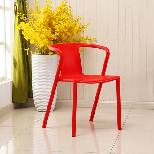Sleek Stackable Plastic Chair Image 3