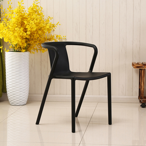 Sleek Stackable Plastic Chair Image 4