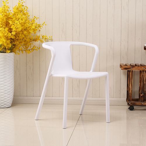 Sleek Stackable Plastic Chair Image 6