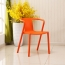 Sleek Stackable Plastic Chair Image 7
