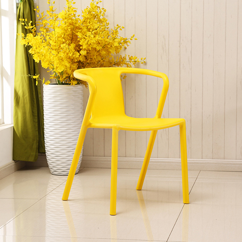 Sleek Stackable Plastic Chair Image 8