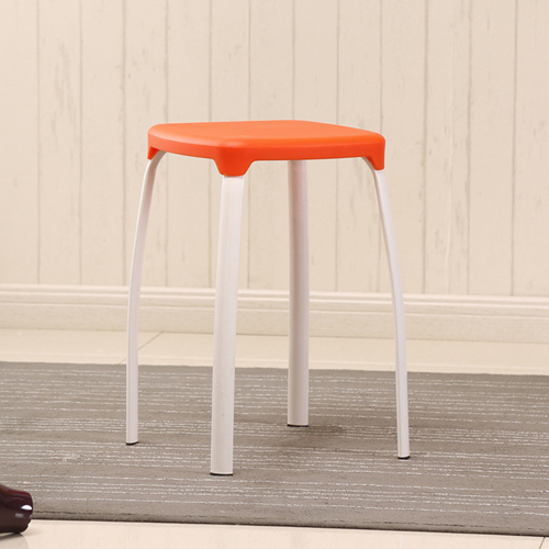 Cryogel Stackable Square Metal Leg Stool