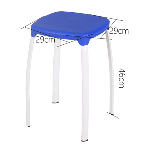 Cryogel Stackable Square Metal Leg Stool Image 17