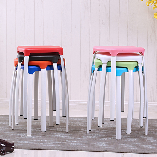 Cryogel Stackable Square Metal Leg Stool Image 1