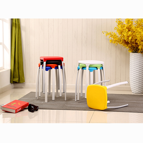 Cryogel Stackable Square Metal Leg Stool Image 2