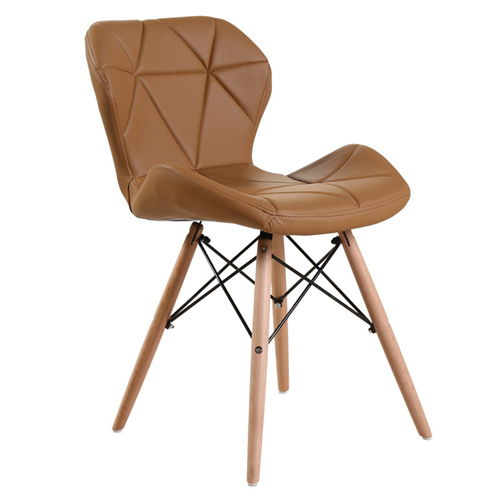 Eiffel Padded Seat Wood Leg Chair Image 9