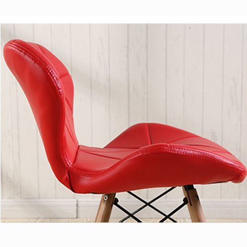 Eiffel Padded Seat Wood Leg Chair Image 17