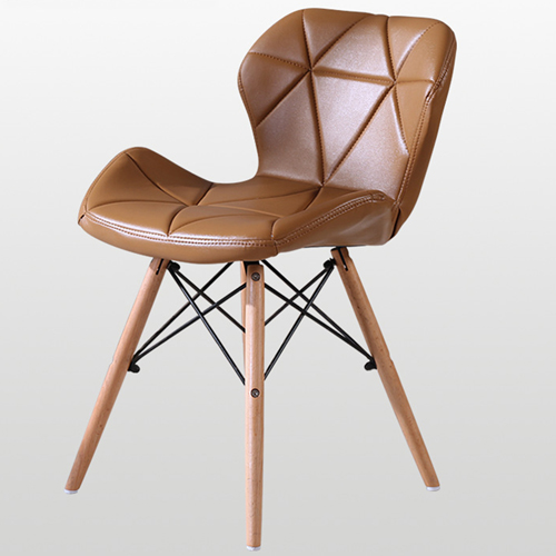 Eiffel Padded Seat Wood Leg Chair
