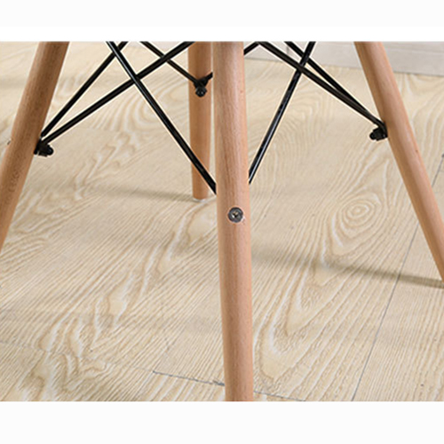 Eiffel Padded Seat Wood Leg Chair Image 21