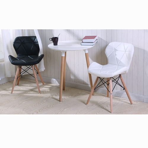 Eiffel Padded Seat Wood Leg Chair Image 2