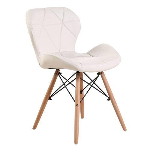 Eiffel Padded Seat Wood Leg Chair Image 5