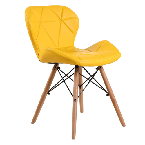 Eiffel Padded Seat Wood Leg Chair Image 6
