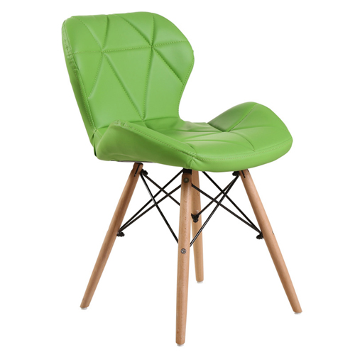 Eiffel Padded Seat Wood Leg Chair Image 8