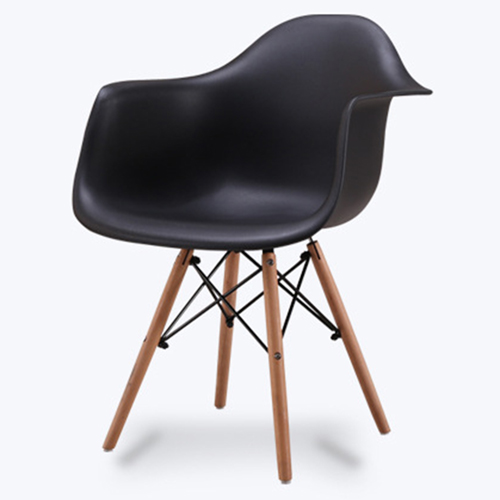 Eiffel Dining Armchair With Wooden Leg