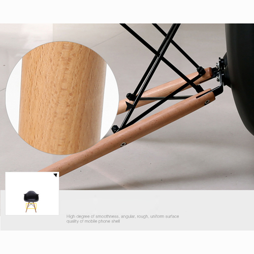 Eiffel Dining Armchair With Wooden Leg Image 18