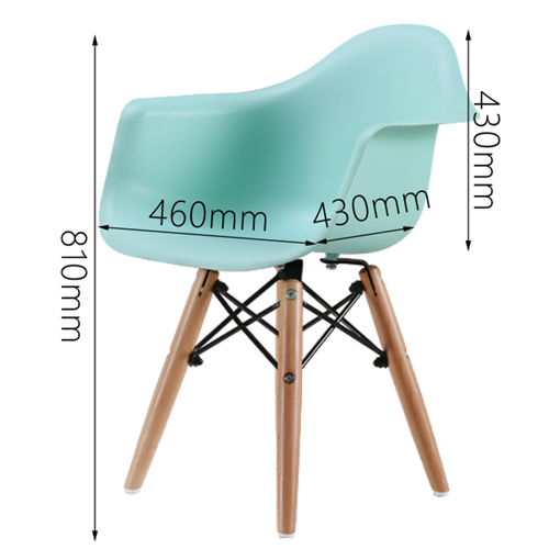 Eiffel Dining Armchair With Wooden Leg Image 21