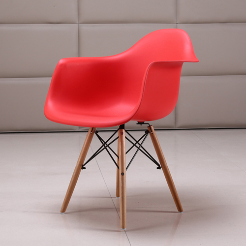 Eiffel Dining Armchair With Wooden Leg Image 3