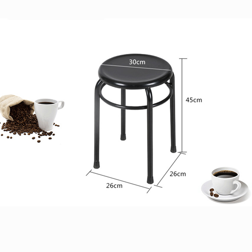 Round Metal Stackable Stool Image 9