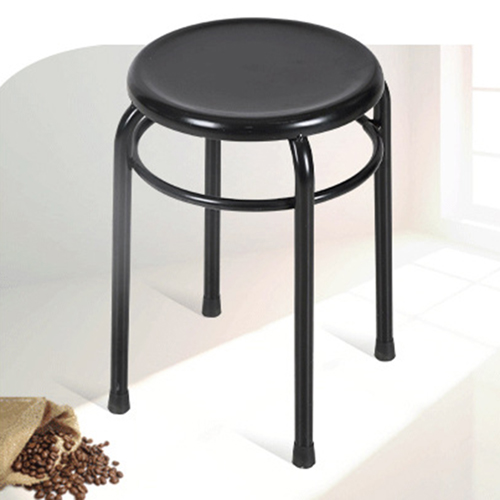 Round Metal Stackable Stool Image 1