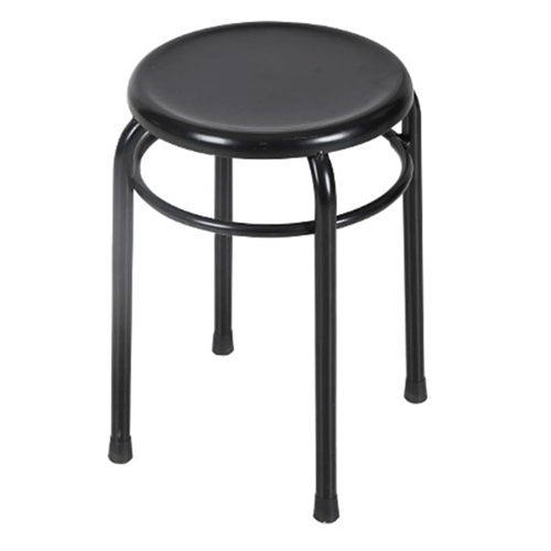 Round Metal Stackable Stool Image 2