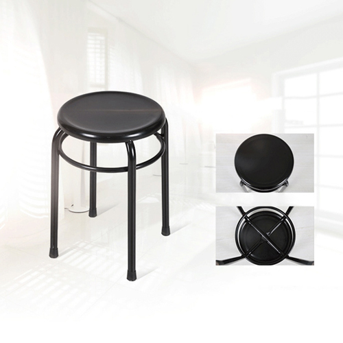 Round Metal Stackable Stool Image 4