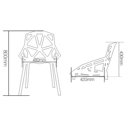 Geometric Design Dining Chair Image 19