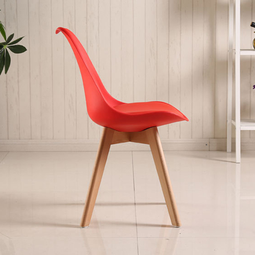 Padded Dining Chair With Crossed Wood Leg Image 11