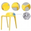 Low Back Stackable Plastic Chair Image 15