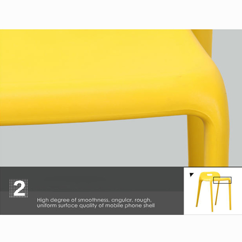 Low Back Stackable Plastic Chair Image 17