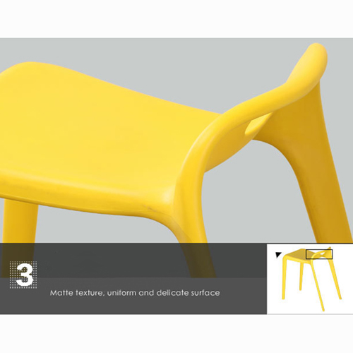 Low Back Stackable Plastic Chair Image 18