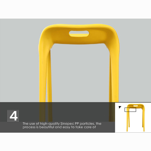 Low Back Stackable Plastic Chair Image 19