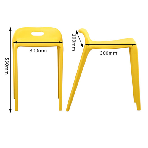 Low Back Stackable Plastic Chair Image 21